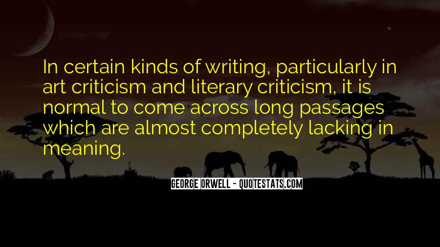 Quotes About George Orwell's Writing #1201217