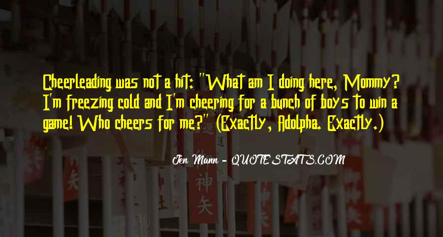 Quotes About Cheering #113147