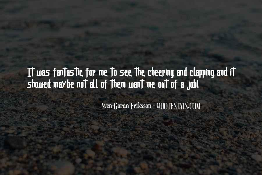Quotes About Cheering #572816