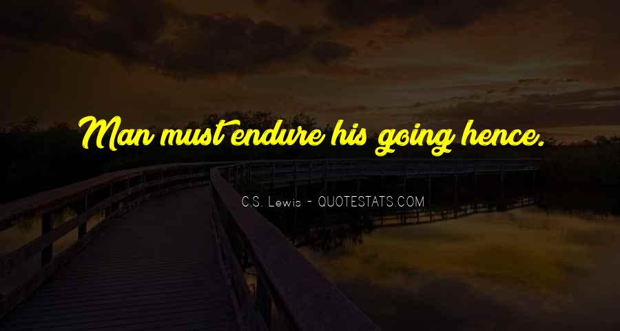 Quotes About Endure #64306