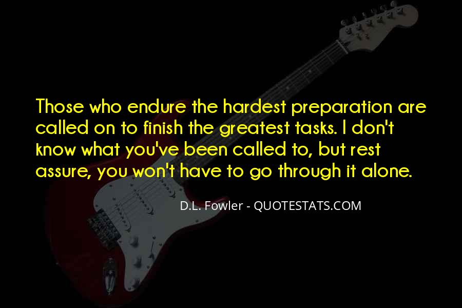 Quotes About Endure #88690
