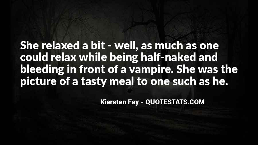 Quotes About Being A Vampire #104565