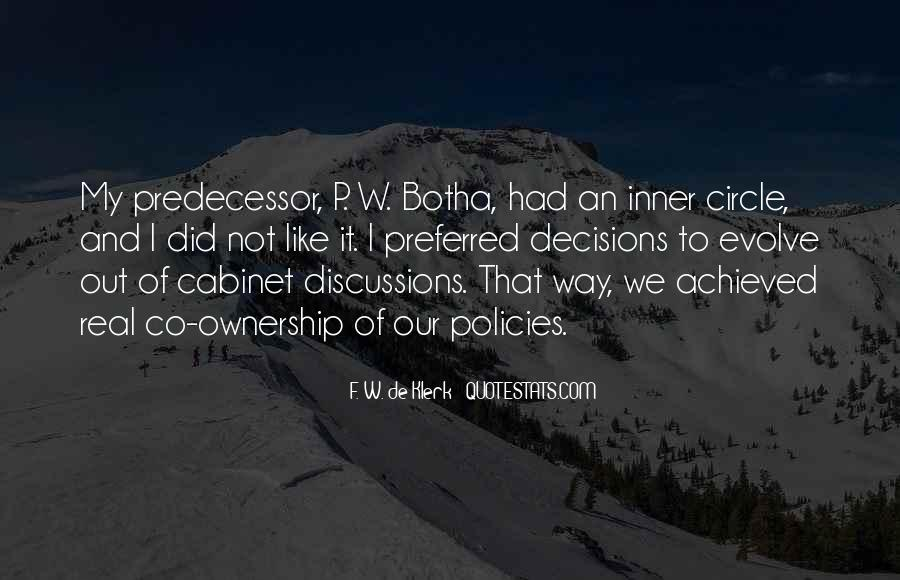 Quotes About Predecessor #1636405