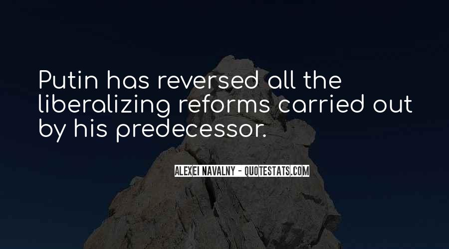 Quotes About Predecessor #1752975