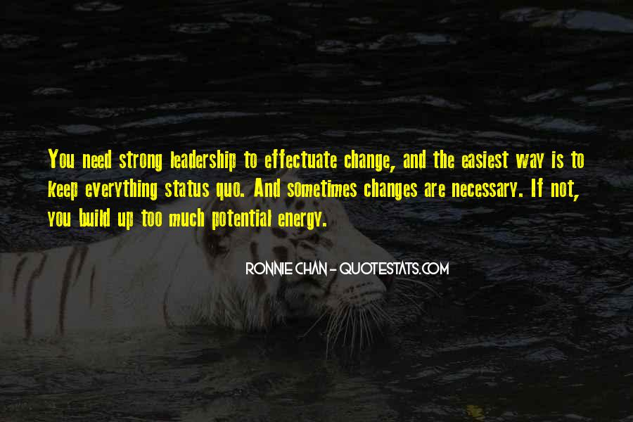 Quotes About Status Quo #121218