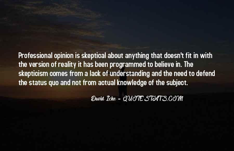 Quotes About Status Quo #203837