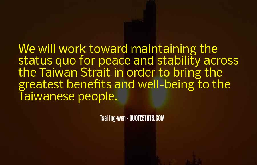Quotes About Status Quo #324030