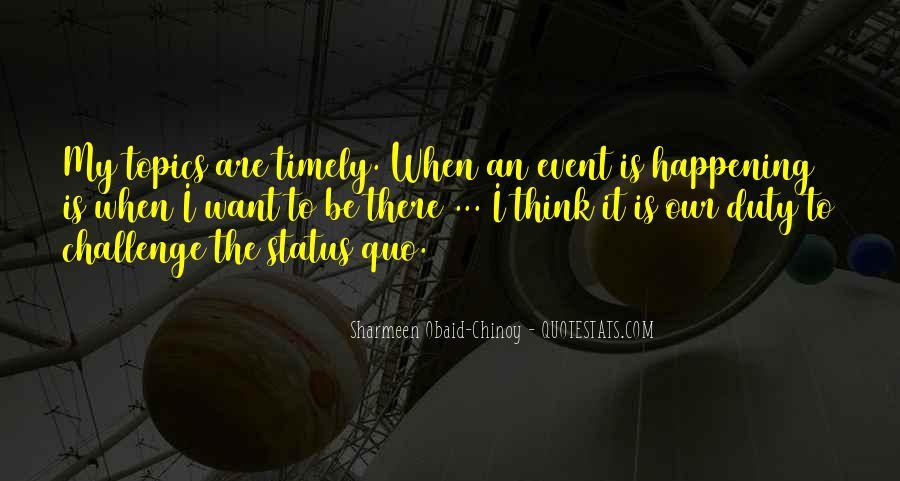 Quotes About Status Quo #47708