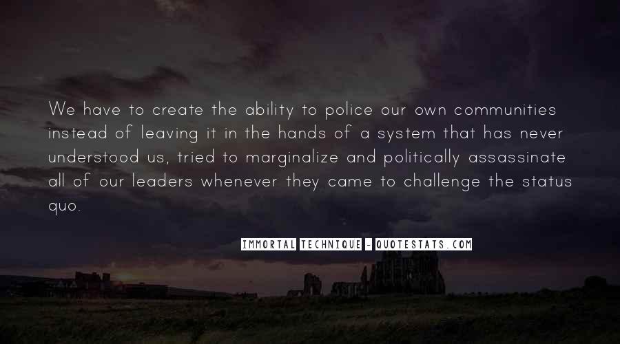 Quotes About Status Quo #74193