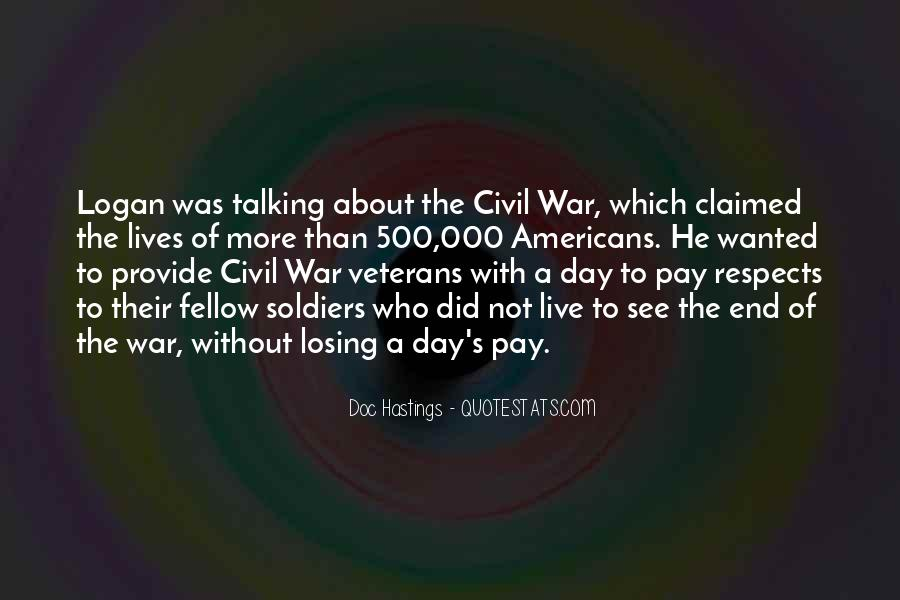 Quotes About Civil War Soldiers #534564