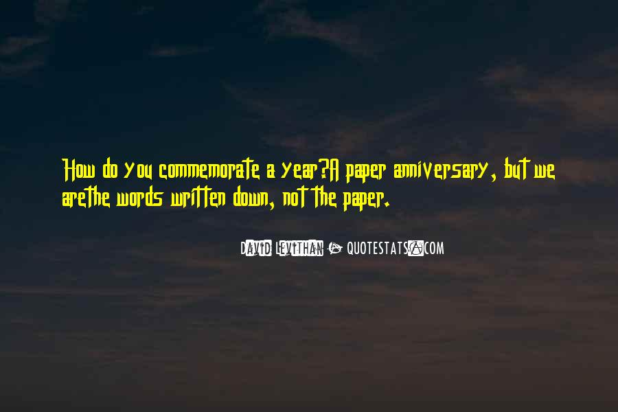 Quotes About One Year Anniversary #62112