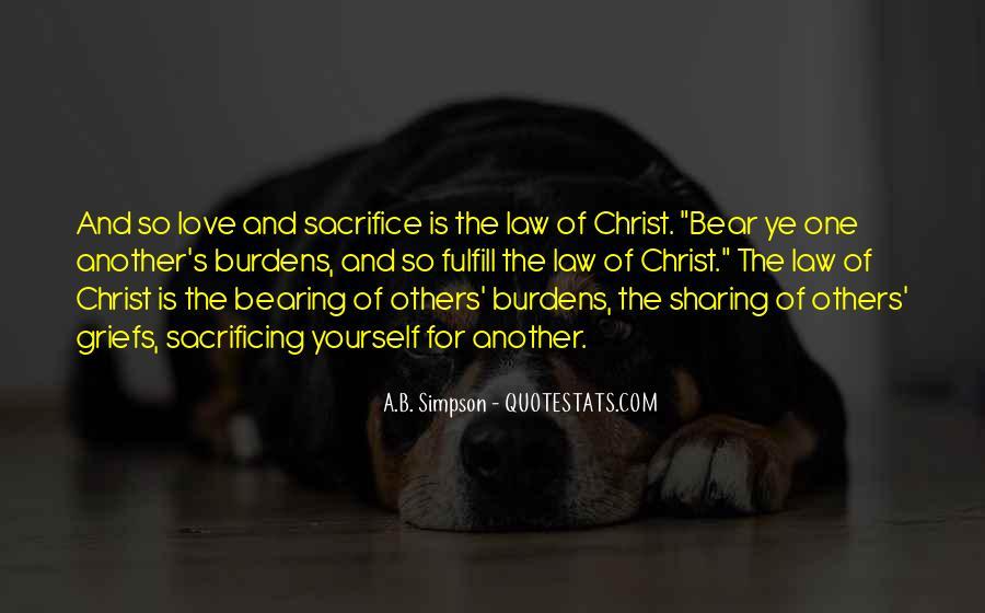 Quotes About Sacrificing #113169