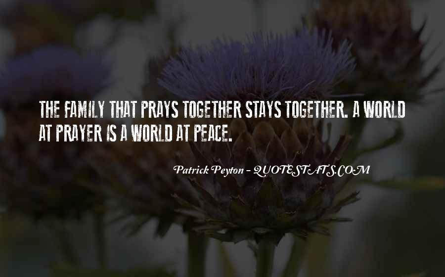Quotes About Prayer For Family #1340834