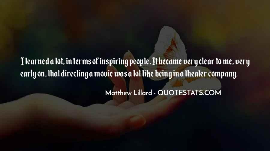 Quotes About Directing Theater #1055061