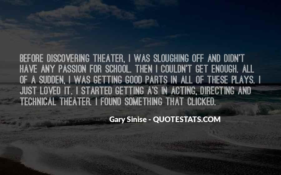 Quotes About Directing Theater #1413465