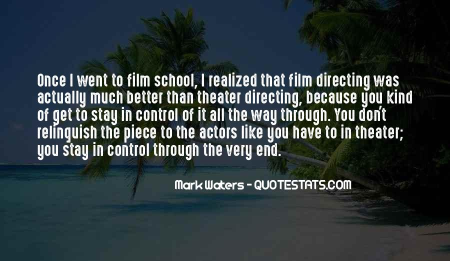 Quotes About Directing Theater #436933