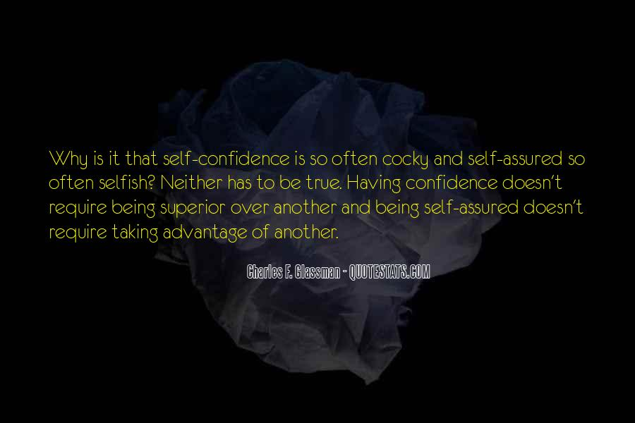 Quotes About Being Self Assured #548720