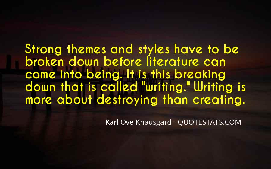 Quotes About Writing And Literature #469452