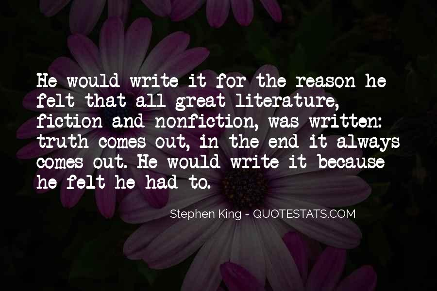 Quotes About Writing And Literature #85569
