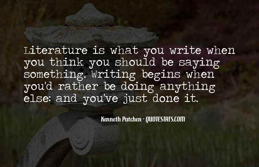 Quotes About Writing And Literature #943035