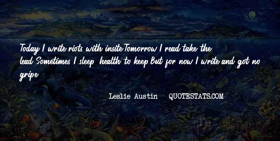 Quotes About No Sleep #268186