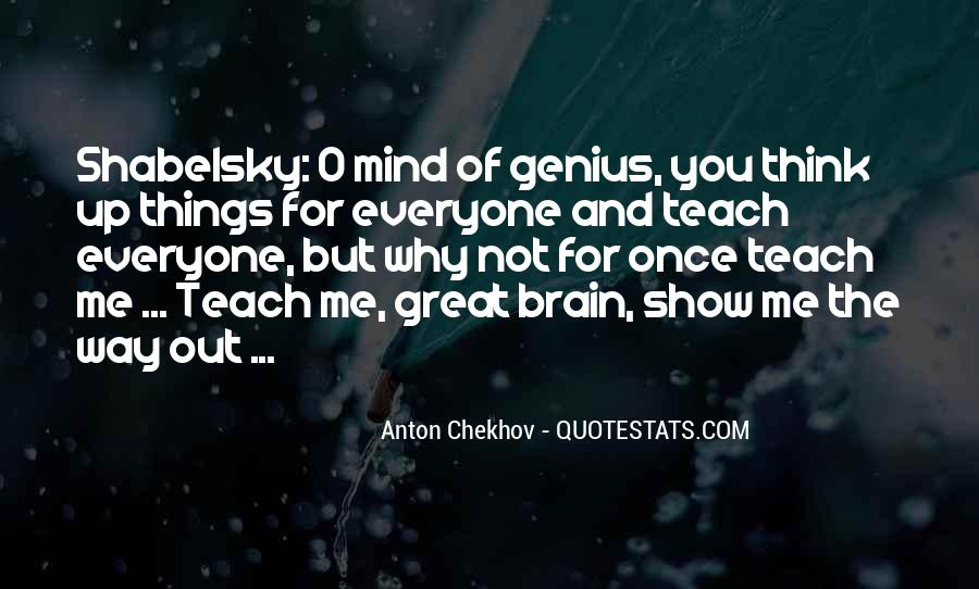 Quotes About Genius Mind #869365