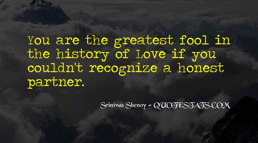 Quotes About Honesty In Love #172182