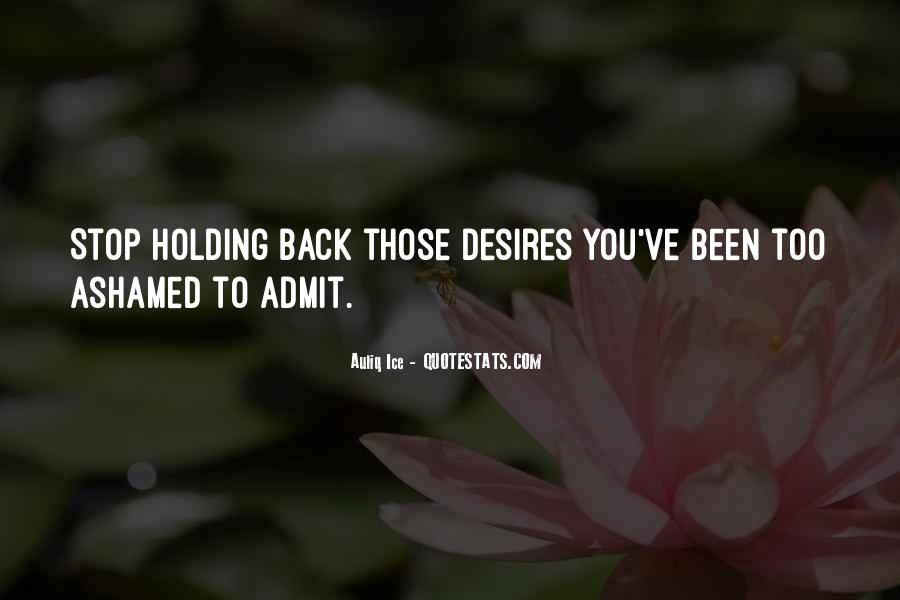Quotes About Holding Back Love #1139925