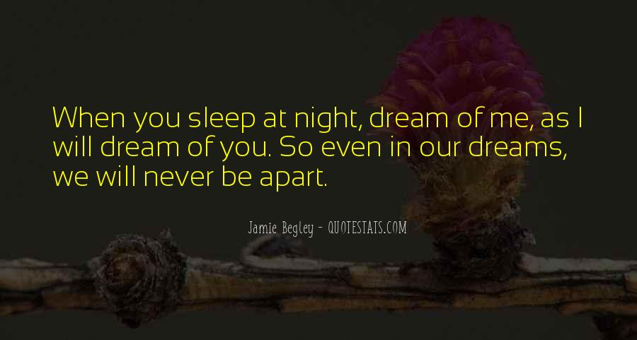 Quotes About Night Dreams #139668