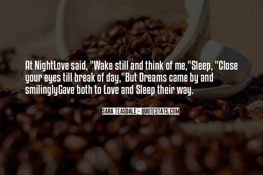 Quotes About Night Dreams #164397