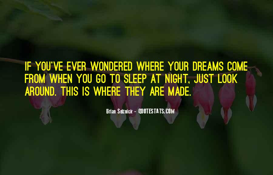 Quotes About Night Dreams #194348