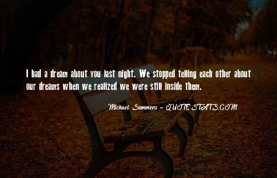 Quotes About Night Dreams #362403