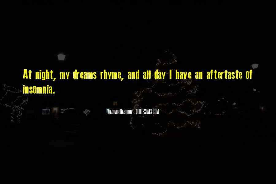 Quotes About Night Dreams #523818