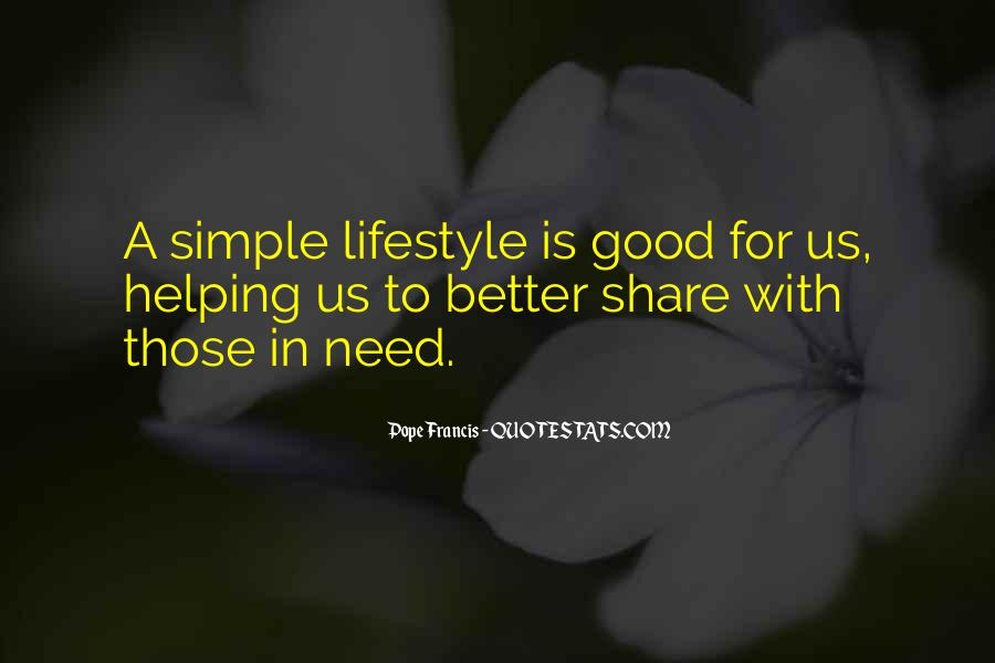 Quotes About Simple Lifestyle #715183