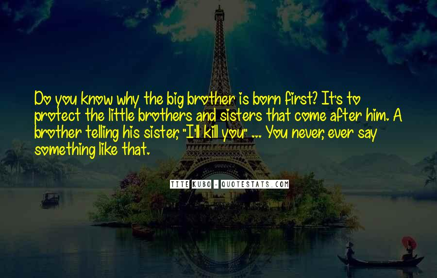 Top 21 Quotes About Big Brothers And Little Brothers Famous Quotes