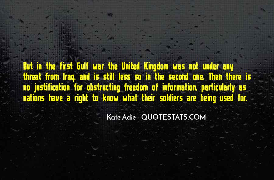 Quotes About War And Freedom #1058022