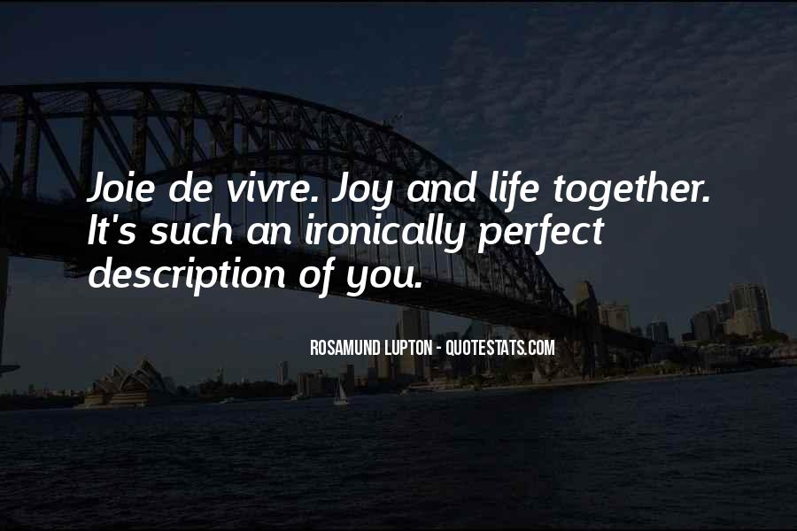 Quotes About Perfect Life #128638