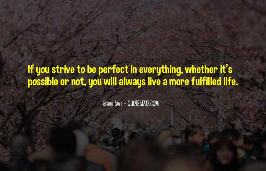 Quotes About Perfect Life #45915