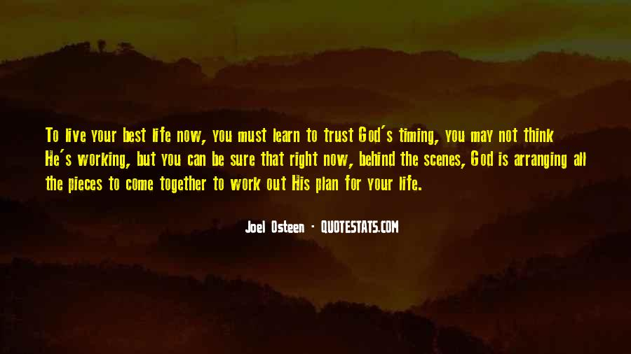Quotes About God Having A Plan For Your Life #114377