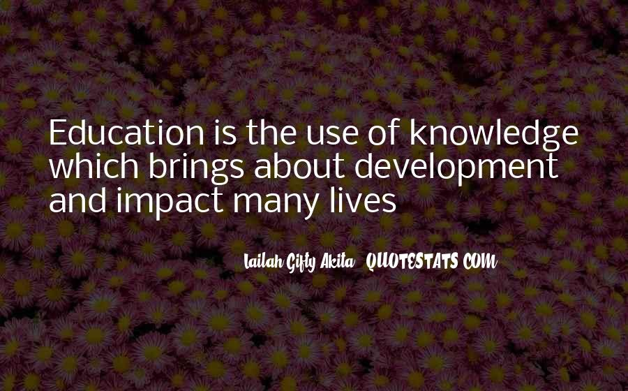 Quotes About Positive Impact On Others #539798