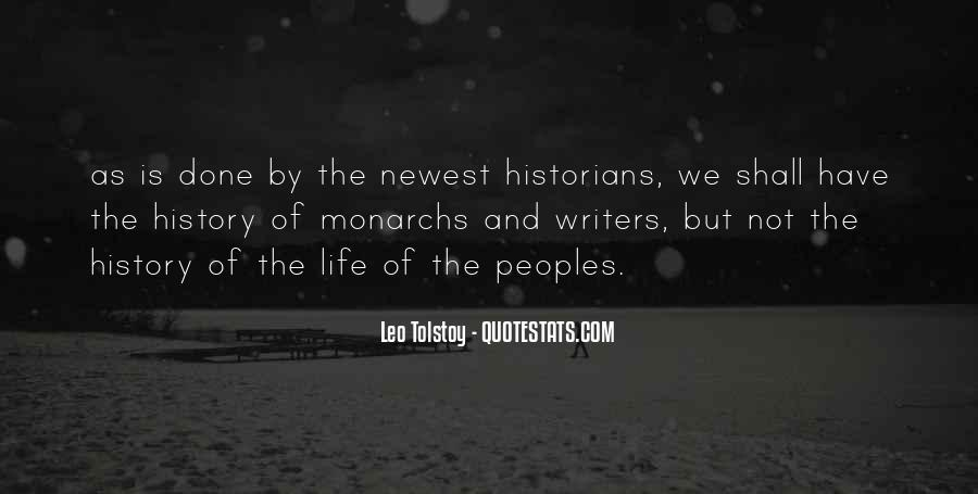 Quotes About Tolstoy History #1510492