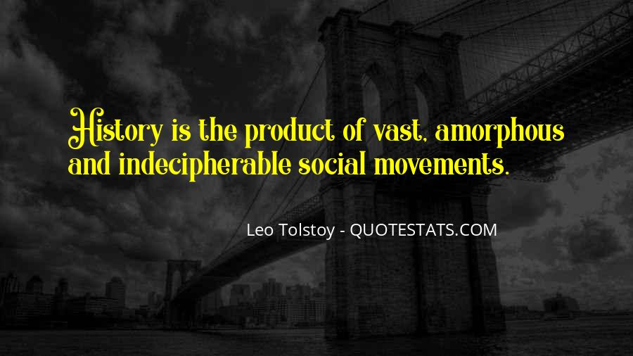 Quotes About Tolstoy History #840441