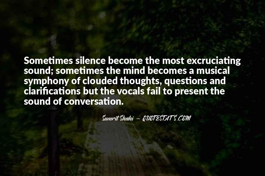Quotes About Clouded Thoughts #922713