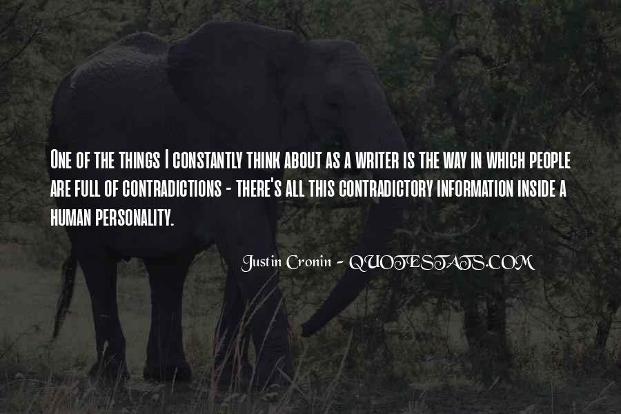 Quotes About Contradictory #191125