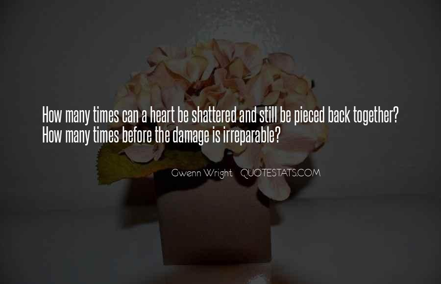 Quotes About Irreparable Damage #411203