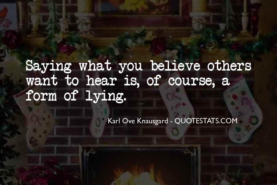 Quotes About Saying Sorry For Lying #258790
