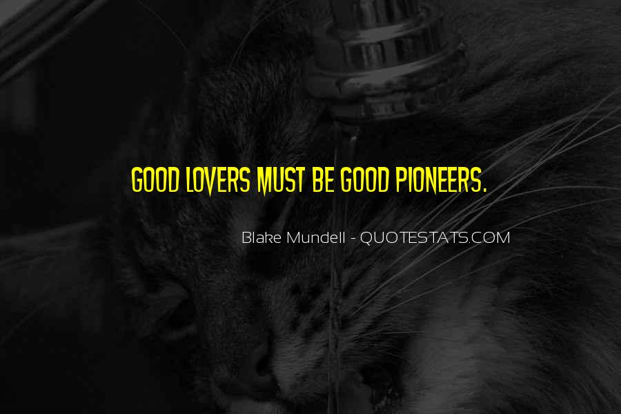 Quotes About Good Lovers #1524243