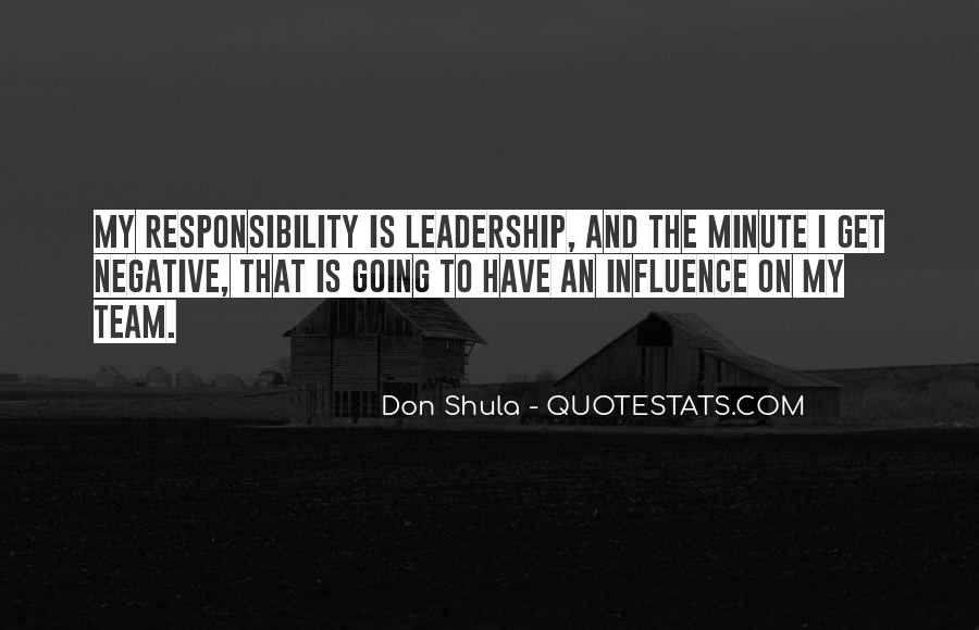 Quotes About Sports Team Leadership #354820
