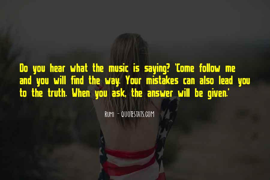 Quotes About Music Rumi #1554787
