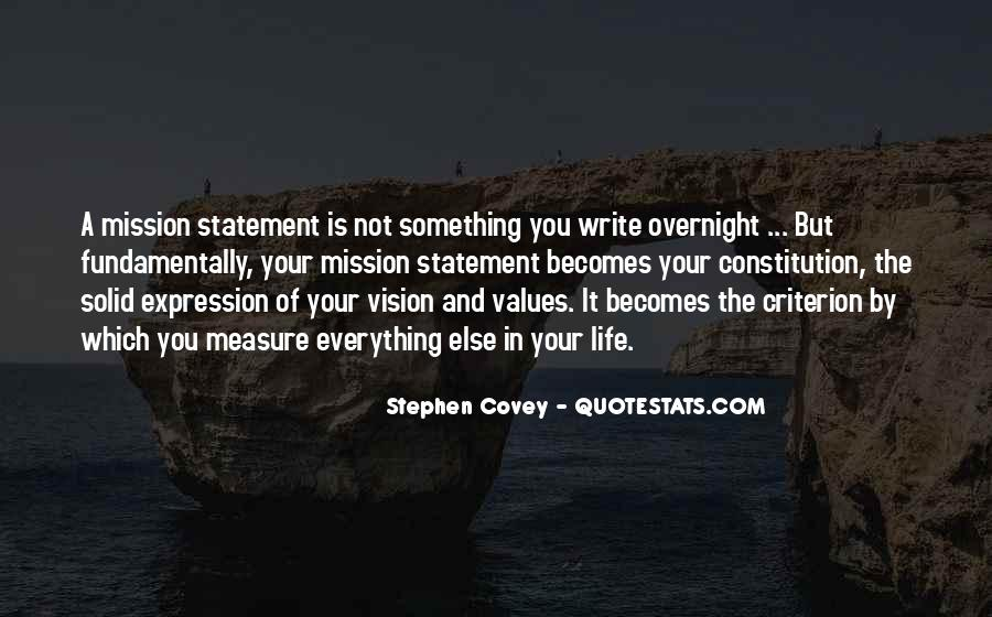 Quotes About Vision Statement #1381576